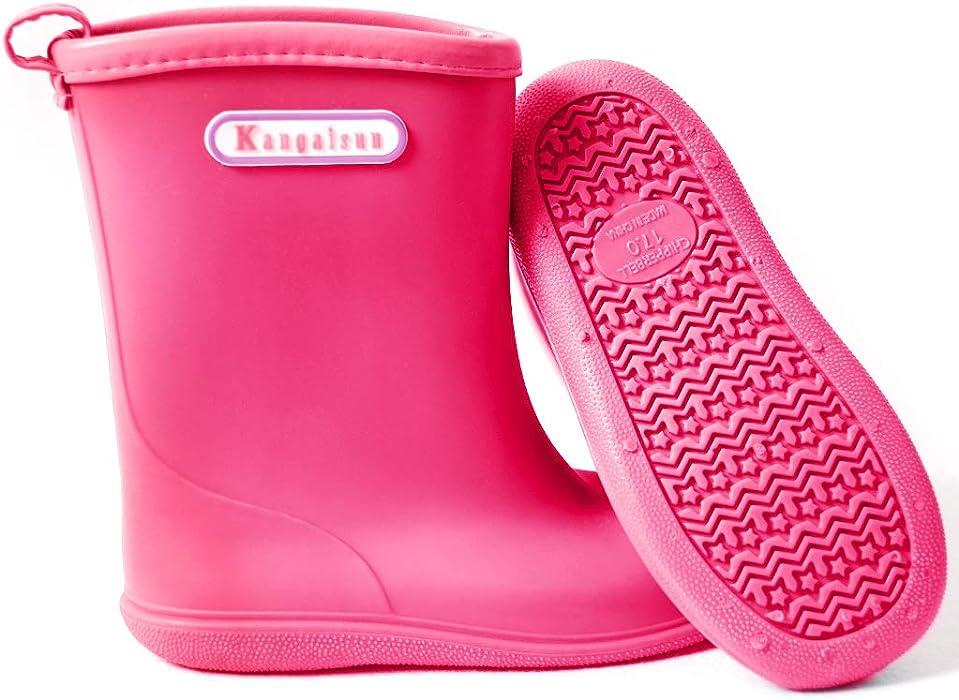 ee860b82603a Kids Wellies Baby Rubber Rain Boots Boys Girls Waterproof Wellington Water  Shoes