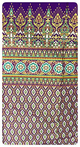 Stylenana Luxious Traditional Thai Silk Fabric Suit for Dress Curtain Table Cloth 39Wx78L inch (Magenta)