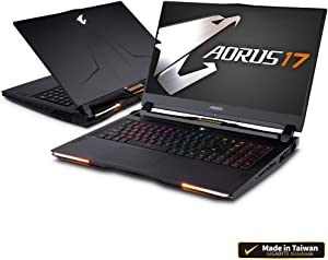 "AORUS 17 YA-9US2452SH 17"" Thin Bezel 240Hz FHD IPS LCD, i9-9980HK, RTX 2080 GDDR6 8GB, 32GB DDR4 RAM, M.2 PCIe 1TB SSD, 2TB HDD, Windows 10 Home, Extreme Gaming Laptop"