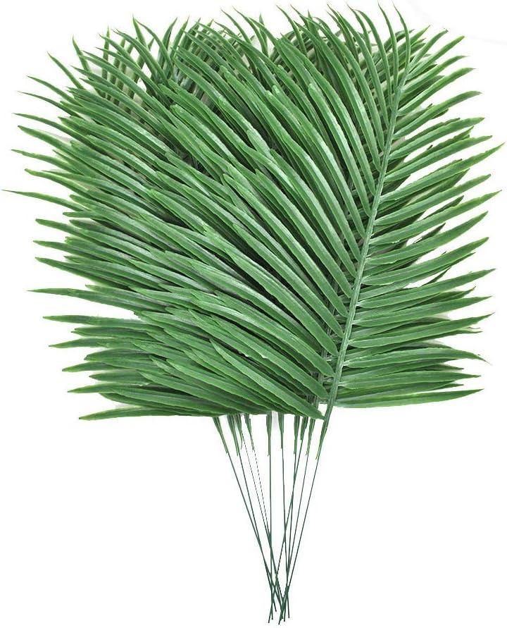 Lanldc 10 Hojas Artificiales de Palmera Tropical, Hojas Artificiales, Hojas de imitación de Plantas Artificiales para decoración de casa, Cocina, Fiesta, Boda: Amazon.es: Hogar