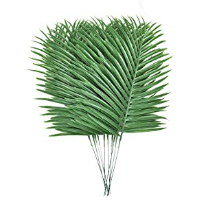 10pcs Faux Tropical Palm Leaves Artificial Palm Plants Leaves Imitation Ferns Artificial Plants Leaf for Home Kitchen Party Wedding Decorations