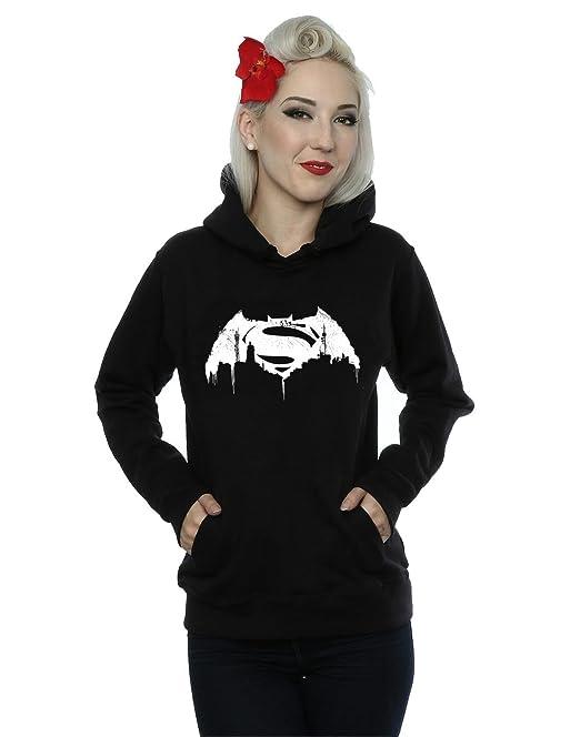 DC Comics mujer Batman v Superman Beaten Logo Capucha: Amazon.es: Ropa y accesorios