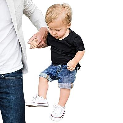a55e46dd728b Boldcat 2018 Summer 2PCS Toddler Kids Baby Boys Outfit Clothes T-Shirt Tops+Denim  Shorts Pants 1Set