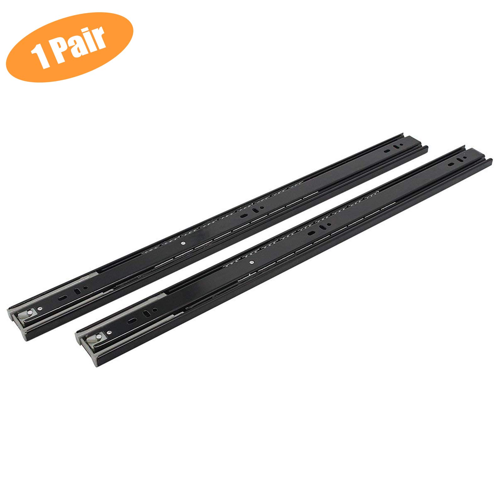 1 Pair of 24 Inch Probrico Soft-Close Ball Bearing Full Extension Drawer Slide 100lb Load Rating Available in 12'',14'',16'',18'',20'',22'', 24'' Lengths
