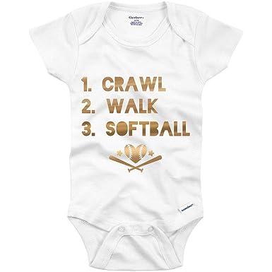 35816087f Amazon.com: Metallic Softball Onesie: Infant Gerber Onesie: Clothing