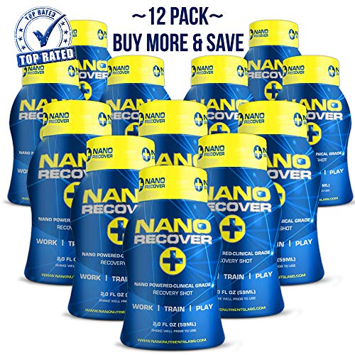 Nano Recover | Patented Hangover Cure, Prevention & Recovery Drink | Liver Detox Supplement w/Dihydromyricetin(DHM), Milk Thistle, Electrolytes Vitamins & Minerals - Best Hangover Remedy- 12 Pack