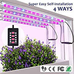 ATTENTION: Auto timing on and off can only occur once after setting, it cannot cycle          MIXC LED plant light with Upgraded Timer function Ideal for providing sunshine to indoor plants, succulent and seedling. Especially suitable ...