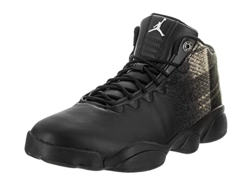 86959f4caae Image Unavailable. Image not available for. Color  Nike Men s Jordan  Horizon Low Premium Black Leather Basketball Shoe 11.5