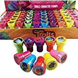 20 pcs Dreamworks Trolls Self-inking Stamps Stampers Pencil Topper Authentic Disney Licensed