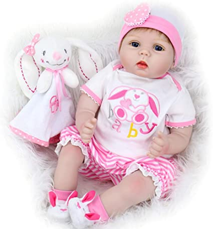 Handmade Suitable 20 inch Reborn baby Doll Exquisite soft Cloth body Accessories