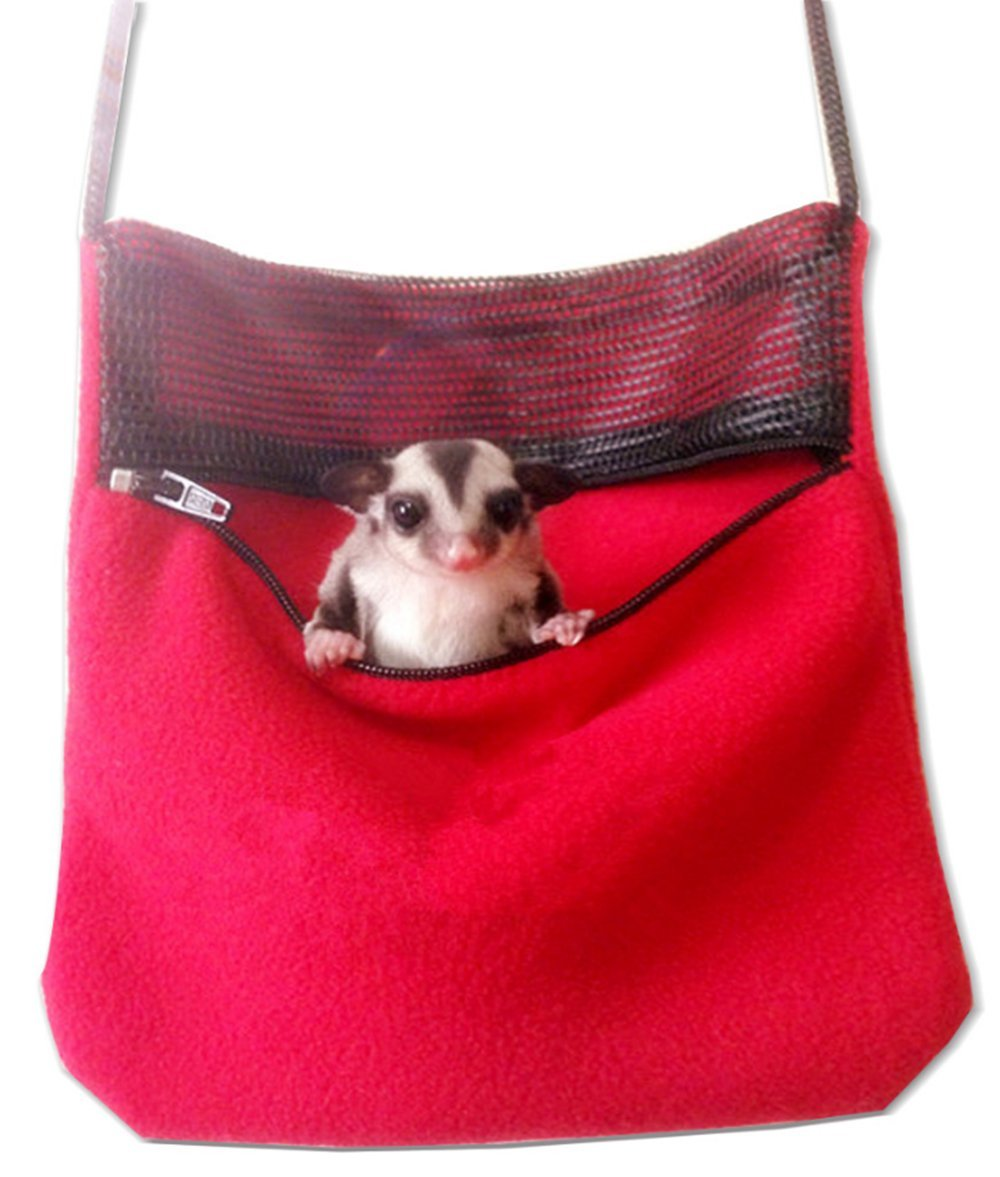 ASOCEA Small Pet Travel Carrier Packet Shoulder Bag for Rat Hamster Mice Sugar Gliders