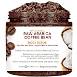 Body Essentials Arabica Coffee & Coconut Milk Scrub - 100% Natural Ingredients - Cellulite and Wrinkle Reduction - Stretch Marks - Spider Veins - Essential Oils - Shea Butter - Vitamin E review