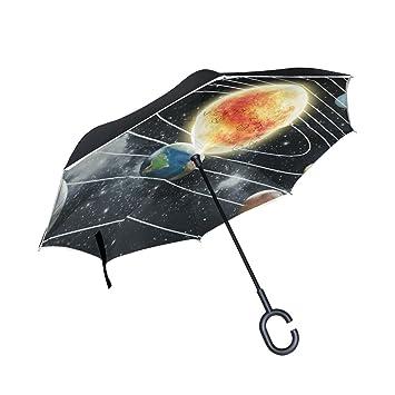 COOSUN - Paraguas inverso con Sistema Solar de Doble Capa para Coche y Exterior, Resistente