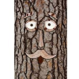 6-Piece Tree Face Set Whimsical Outdoor Garden Decoration by Hilarious Home