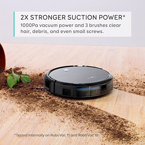 Eufy RoboVac 11, High Suction, Self-Charging Robotic Vacuum Cleaner with Drop-Sensing Technology and HEPA Style Filter for Pet Fur and Allergens, Designed for Hard Floor and Thin Carpet
