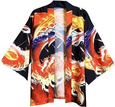 Kimono para Hombre para Mujer Ropa Japonesa Hombres Kimonos Cardigan Cosplay Vestido De Kimono Étnico Yukata Blusa De Camisa De Playa De Verano para Hombre: Amazon.es: Ropa y accesorios