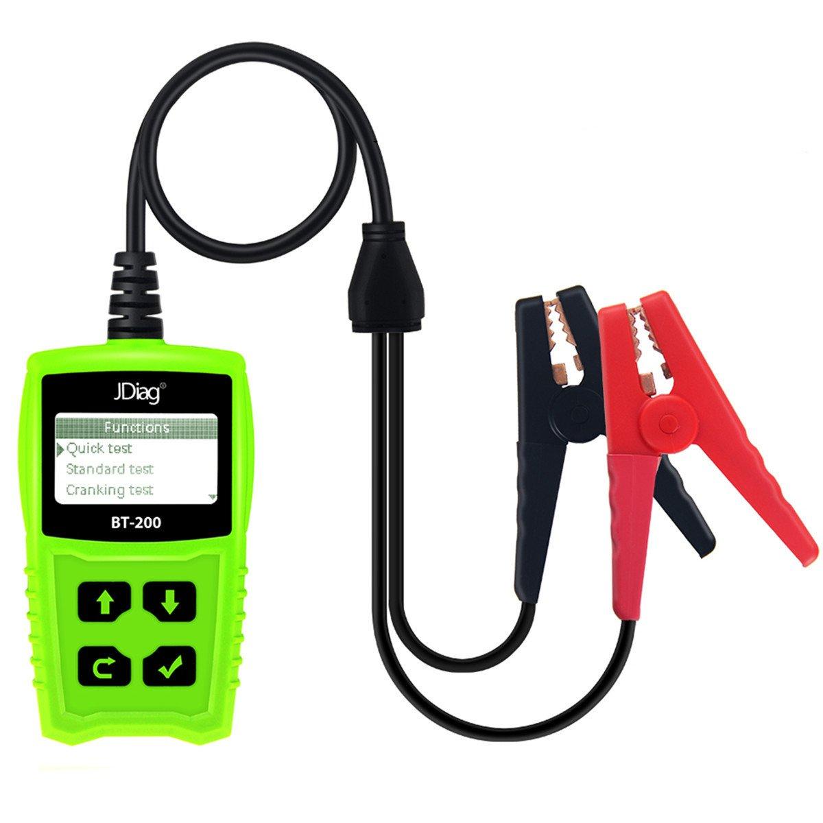 JDiag FasCheck BT-200 Professional Car Load Battery Tester 12V 100-2000 CCA 220AH Digital Battery Analyzer Bad Cell Test Tool for Automotive/Truck/Motorbike Etc(Green) by JDiag (Image #5)