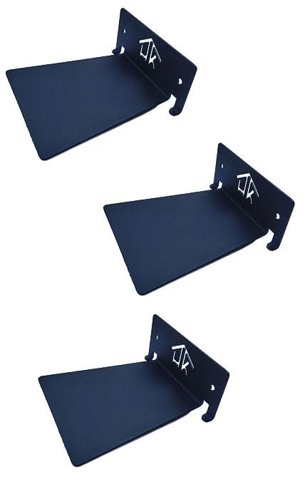 HeavenlyKraft Conceal Floating Bookshelf Black Set Of 3 Invisible Decorative Metal