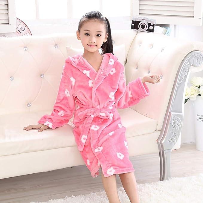 Amazon.com: Kids Bathrobe Children Dressing Gown Boys Girls Robe Hooded Terry Towelling Velour Soft Fleece Bath Robe Nightwear: Clothing
