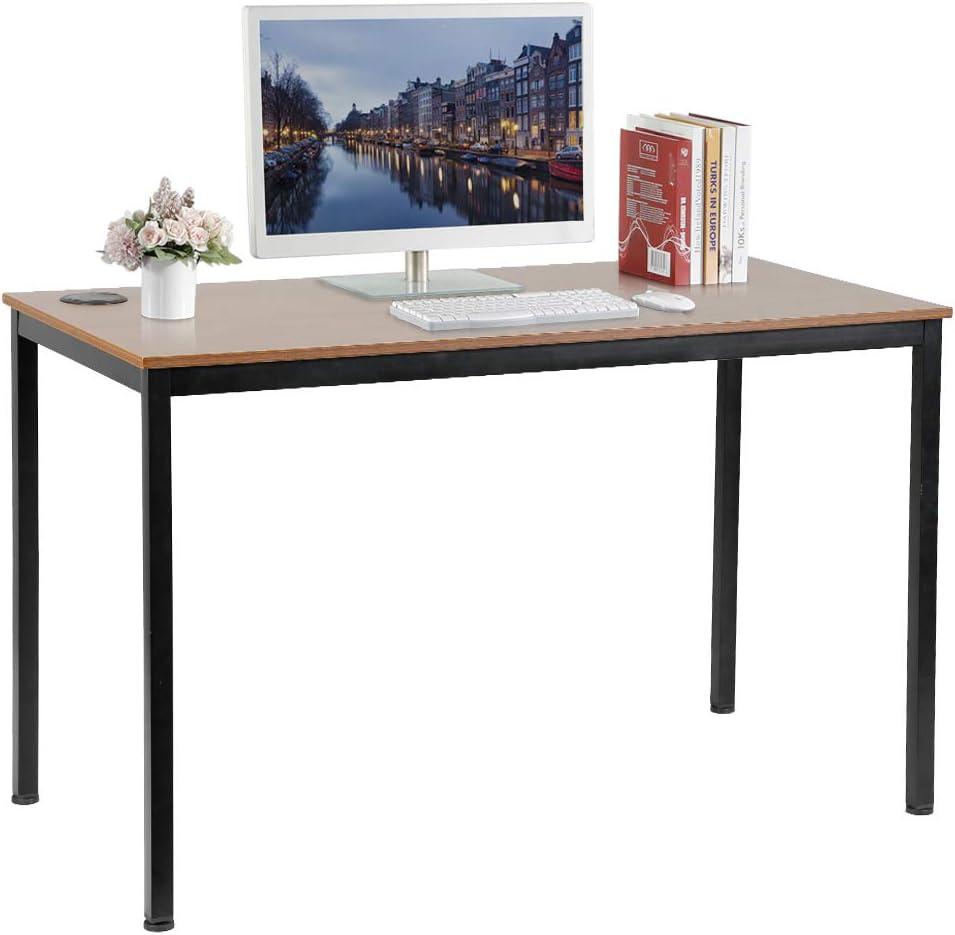 Office Furniture Accessories Black Writing Table For Workstation Eureka Ergonomic 55 Inch Simple Computer Desk For Home Office Desks Workstations