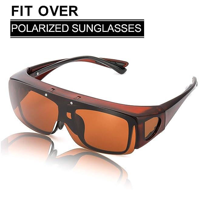SIPHEW Gafas de Sol Sobre Gafas Graduadas - para Colocar Sobre las Gafas Normales y de