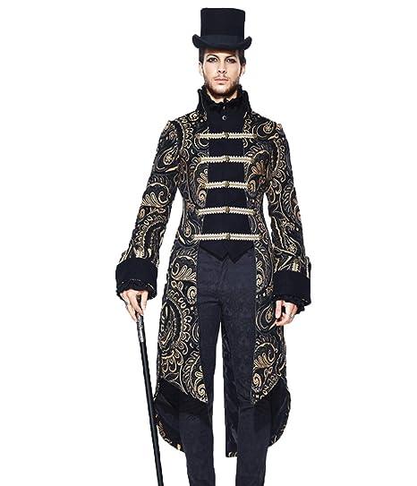 Männer Jacke Fashion Steampunk Stehkragen Devil Langarm b7Ifgy6vY