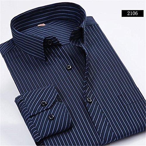 694596462878d Musamk Dashing New Fashion Spring 2016 Classic Men Striped Dress Shirt Long  Sleeve Turn-down Collar Regular-Fit Mens Shirts Designer Camisa 2106S Asian  size ...