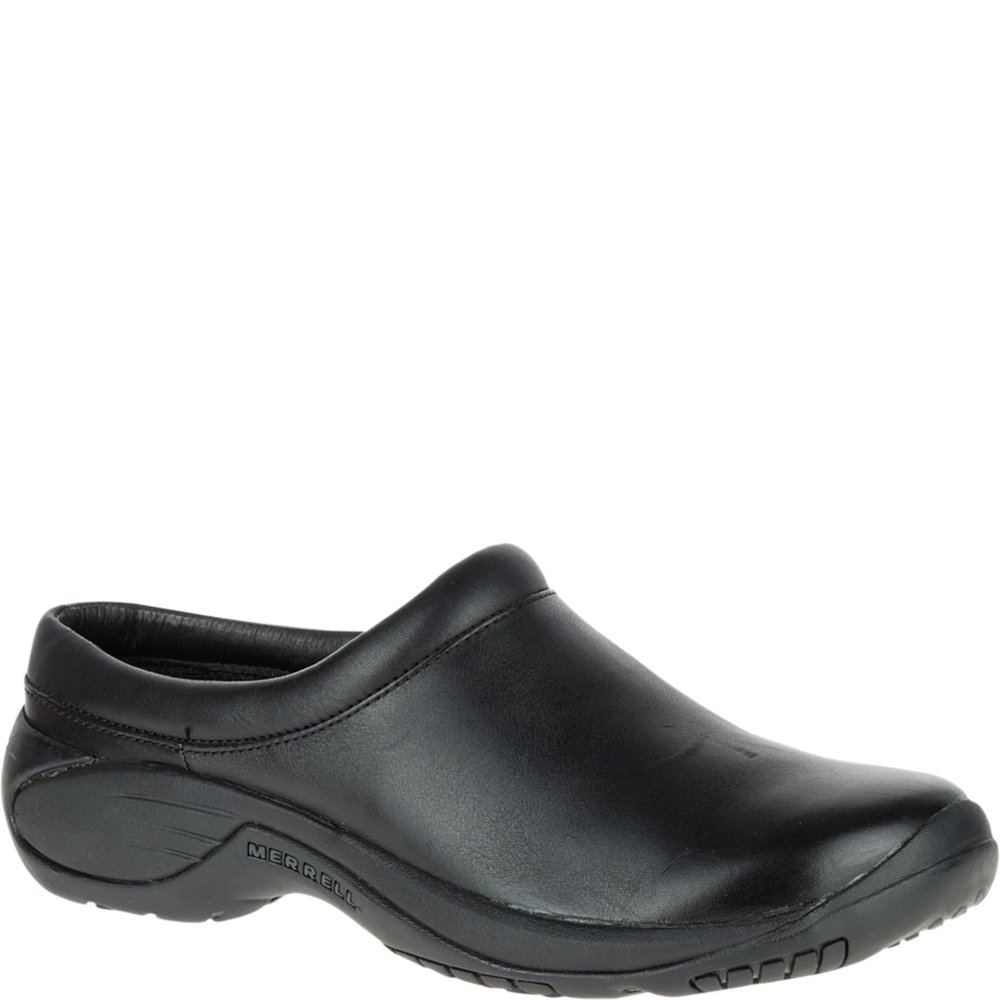 Merrell Men's Encore Gust Slip-On Shoe,Smooth Black Leather,14 M US by Merrell