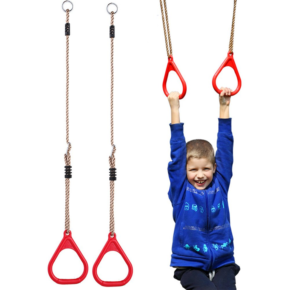 Children Trapeze Bar Pull up Gym Rings Kids Playground Home Swing Sets Accessories Exercise Fitness Indoor Outdoor Equipments SOXDirect