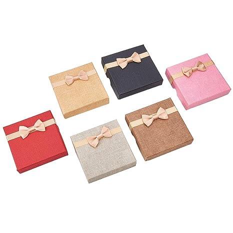 NBEADS Juego de 12 cajas de regalo para pulseras de cartón cúbico, caja de regalo