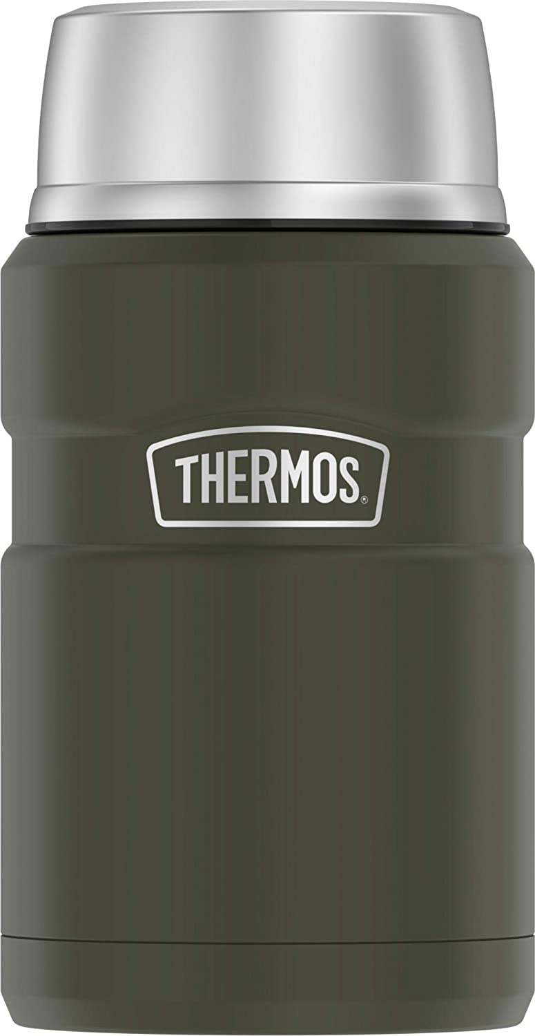 Thermos 24-Ounce Stainless Steel Vacuum Insulated Food Jar (Army Green), one size
