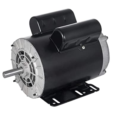 Mophorn 3 Hp Electric Motor 2.2 KW Rated Speed 3450 RPM Single Phase Motor AC 115V 230V Air Compressor Motor Suit for Home and Small Shop Air Compressors