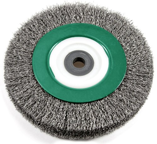 Hitachi 729306 8-Inch Crimped Carbon Steel End Bench Wheel