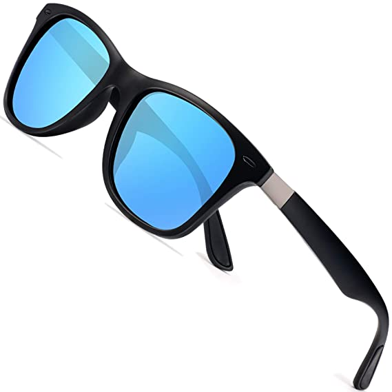 18a9e6df56e Polarized Sunglasses for Men Retro - FEIDU Polarized Sunglasses for Men  Sunglasses Man FD2150 (blue-o)  Amazon.in  Clothing   Accessories