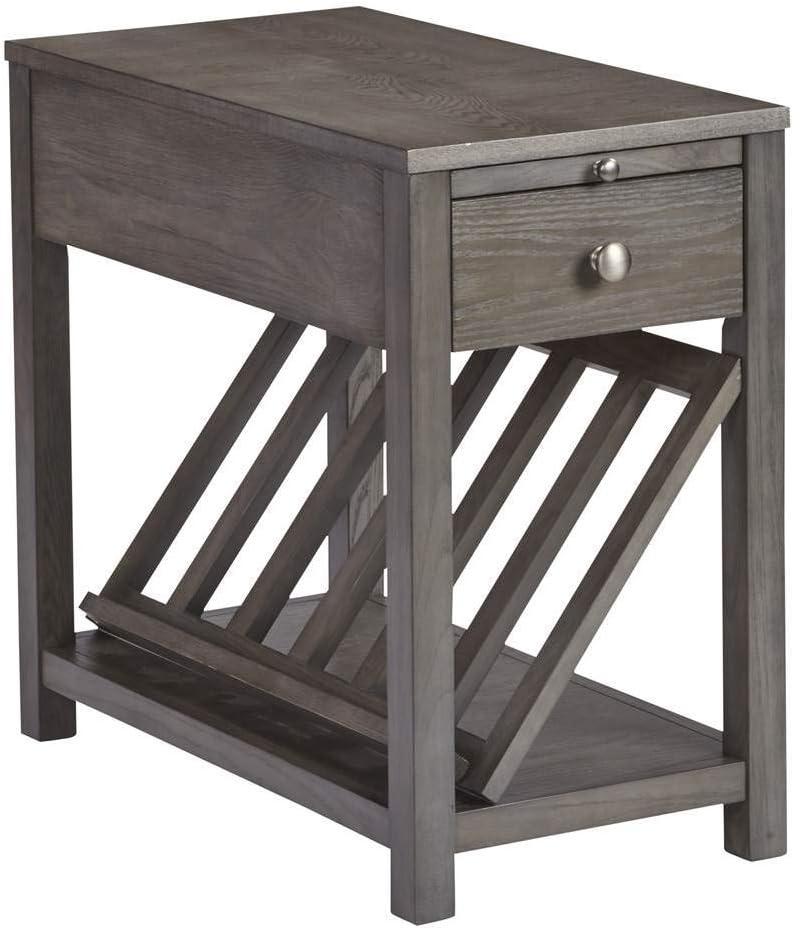 Progressive Furniture II Chairside Table, Dark Ash Gray