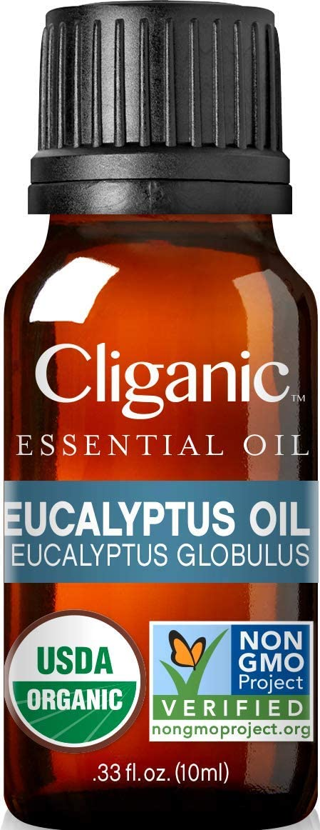 Cliganic USDA Organic Eucalyptus Essential Oil, 100% Pure | Natural Aromatherapy Oil for Diffuser/Humidifier, Steam Distilled (10ml)