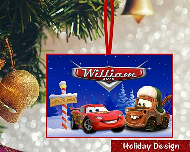 Disney Cars Christmas Decorations.Amazon Com Personalized Disney Cars Ornament Disney Cars