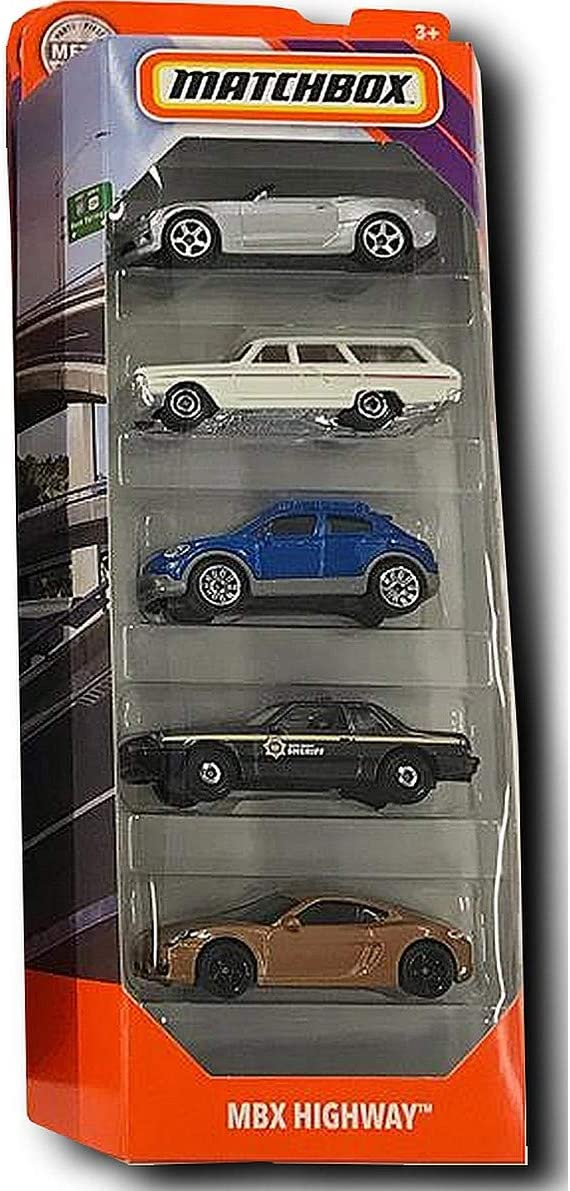 2020 Matchbox Cars 5 Pack 1 Mbx Highway Amazon Co Uk Toys Games