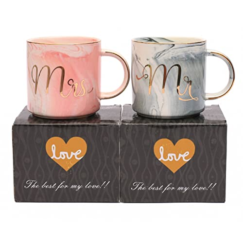luspan mr and mrs couples coffee mugs unique wedding gift for bride and groom