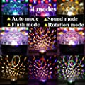 SOLMORE LED Party Lights Disco Ball Strobe Light Sound Activated Disco Lights 9 Colors DJ Lights Stage Lights for Club Party Gift Kids Birthday Wedding Home Karaoke Dance 18W (with Remote)