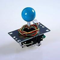 Sanwa JLF-TP-8YT-SK OEM Light Blue Ball Handle Arcade Joystick 4 & 8 Way Adjustable (Mad Catz SF4 Tournament Joystick Compatible)