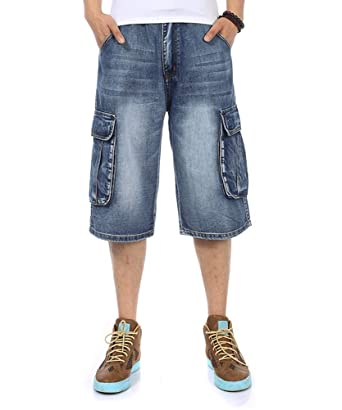 16a484448a9059 Men's Jeans Shorts Cargo Denim Shorts Relaxed Fit Big and Tall Loose Casual  Plus Size 30W-46W at Amazon Men's Clothing store: