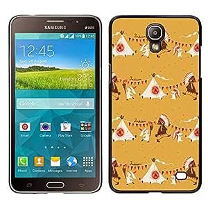 LECELL--Funda protectora / Cubierta / Piel For Samsung Galaxy Mega 2 -- Beige indio nativo americano --