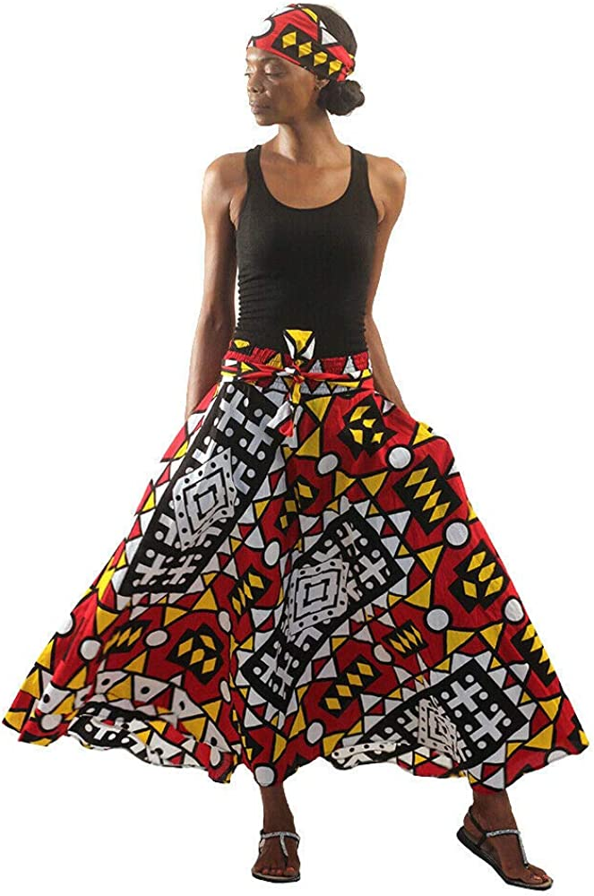 Colors Of Uganda African Ladies Women S Skirt Female Traditional Dress Women African Print Skirt African Floral Pattern Skirt A Line Long Skirts Women African Printed Casual Maxi