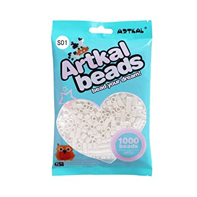 Artkal 200 Colors 5mm Fuse Beads Art Crafts - White Color (S01): Arts, Crafts & Sewing