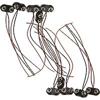 10 conectores de clip de batería de 9