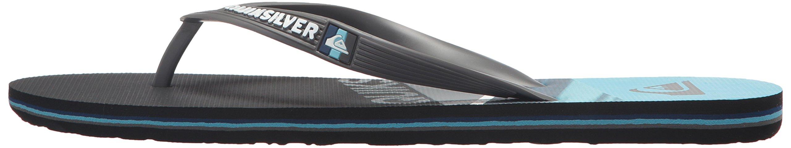 Quiksilver Men's Molokai Slash Sandal, Black/Grey/Blue, 6 D US by Quiksilver (Image #5)