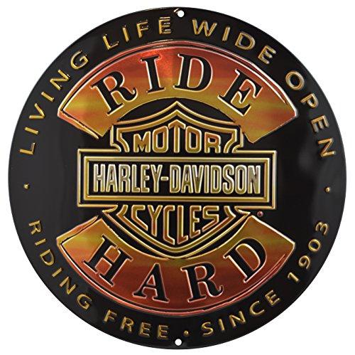 Genuine Harley Davidson Ride Hard Round (Harley Davidson Cruisers)