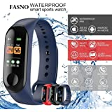FASNO Intelligence Bluetooth Health Wrist Smart Band Watch Monitor/Smart Bracelet/Health Bracelet/Smart Watch for Mens/Activity Tracke/Bracelet Watch for Men/Smart Fitness Band
