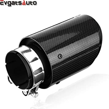 1x Adjustable Angle Carbon Fiber Matt Car Exhaust Pipe Universal 2.5/'/' in 4/'/'out